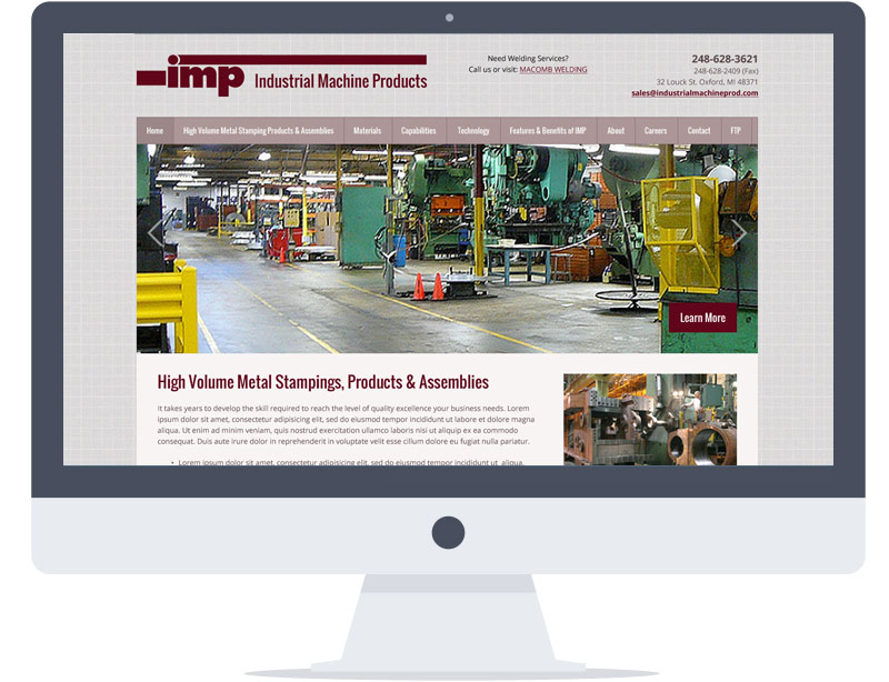 Website - Industial Machine Products
