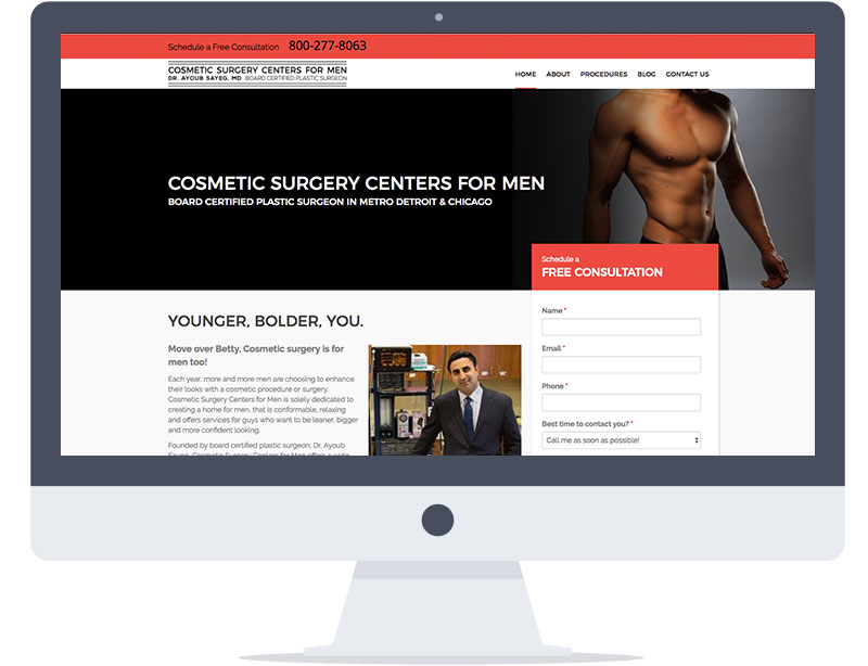 Website - Cosmetic Surgery Centers for Men